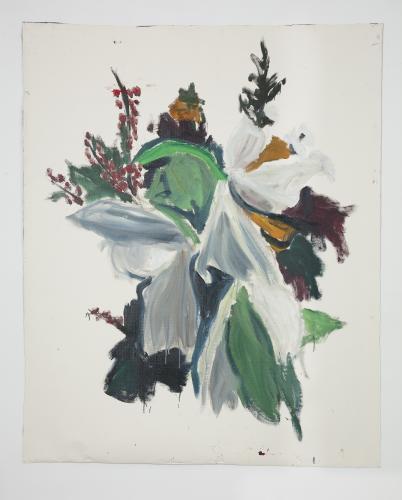 DAMIEN CABANES<br /> Bouquet mélangé, 2020,<br /> Oil on linen<br /> 220,5 x 250,5 cm<br /> <br /> Courtesy galerie Eric Dupont, Paris