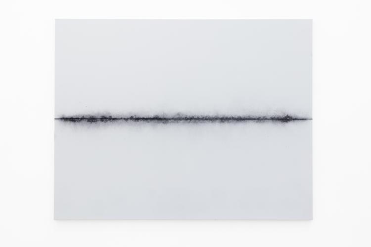 YAZID OULAB<br /> Impact, 2017<br /> Pigment acrylique sur toile<br /> 114 x 146 cm<br /> &copy; galerie Eric Dupont, Paris