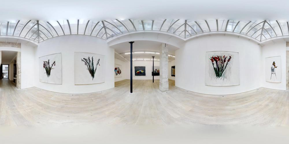 Panoramic view of the exhibition, courtesy gallery Eric Dupont, Paris.