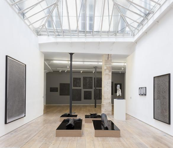 Exhibition view, Pascal Convert, Three Trees, 2019 at Eric Dupont Gallery