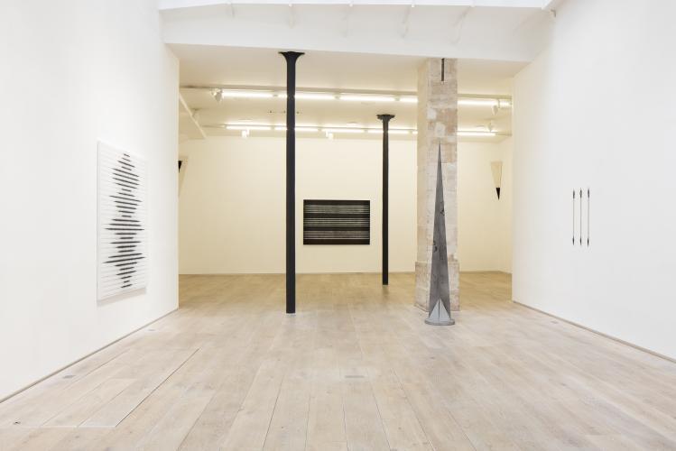 Yazid Oulab, À La pointe, 2017, view of the exhibition, galerie Eric Dupont. Photographer : Jean-François Rogeboz, © galerie Eric Dupont, Paris.