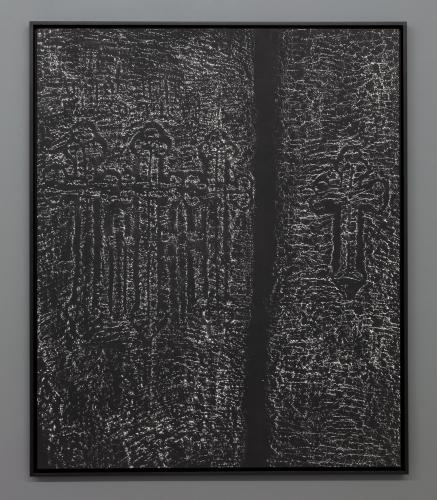 Pascal Convert<br /> Donors wall <br /> Platine-palladium print of the stone rubbing of the walls of the Geghard and Hagphat Monasteries in Armenia.<br /> Print of a wall fragment, Geghard Monastery, 2019. 102,1 x 123 cm ; 106,5 x 127 cm (framed).<br /> Edition Atelier L. Lafolie. Framed at atelier O. Gachen.<br /> Different dimensions<br /> 2018-19<br /> Edition 1/7 + 2 AP<br />