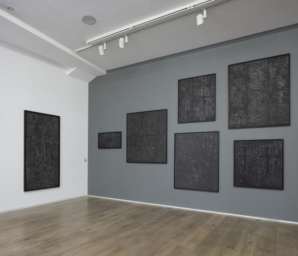 Pascal Convert<br /> Trois arbres, Exhibition view at Eric Dupont gallery, 2019, Donator wall © galerie Eric Dupont, Paris