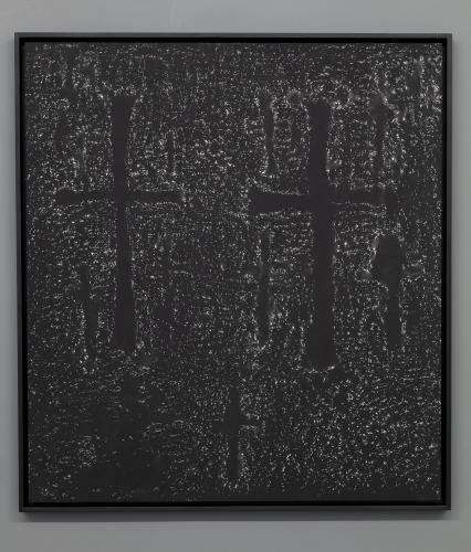 Pascal Convert<br /> Donors wall <br /> Platine-palladium print of the stone rubbing of the walls of the Geghard and Hagphat Monasteries in Armenia.<br /> Print of a wall fragment, Geghard Monastery, 2019. 88 x 97,6cm ; 92,2 x 101,5 cm (framed).<br /> Edition Atelier L. Lafolie. Framed at atelier O. Gachen.<br /> Different dimensions<br /> 2018-19<br /> Edition 1/7 + 2 AP<br /> © galerie Eric Dupont, Paris<br />